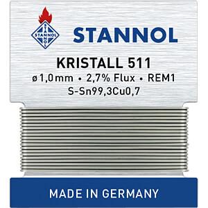 STA 511 TC 1,0W - Lötzinn Kristall 511 bleifrei mit Kupferanteil