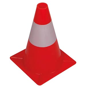 Traffic cone, pylon, red/white, 30 cm VELLEMAN 1190-30