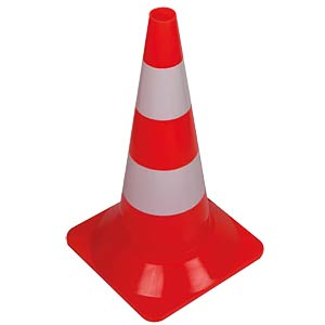 Traffic cone, pylon, red/white, 50cm VELLEMAN 1190-50