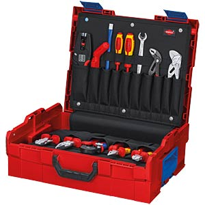 Werkzeugsatz, Werkzeugbox, L-BOXX, Elektriker, 65-teilig KNIPEX 00 21 19 LB E