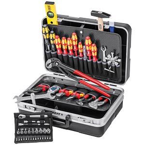 Werkzeugsatz, Werkzeugkoffer, Sanitär, 52-teilig KNIPEX 00 21 21 HK S