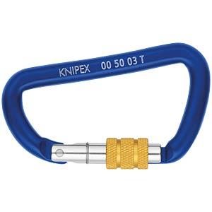 Materialkarabiner, für Werkzeuge, blau KNIPEX 00 50 03 T BK