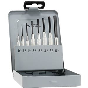 Pin punch set with guide sleeve, 8-piece RENNSTEIG 9R 457 100 5