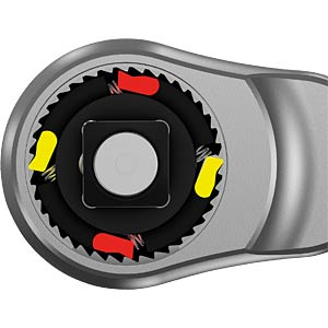 "Zyklop metal ratchet, 1/4""- push-through square WERA 5004003001"