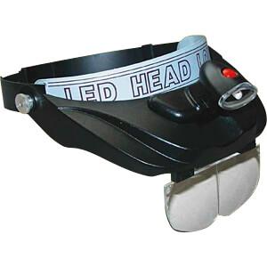Kopfbandlupe Profi LED, 1,2-fach, 2,5-fach, 3,5-fach RONA 816102