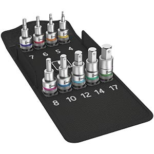 "Zyklop bit socket set with 1/2"" drive WERA 05004201001"