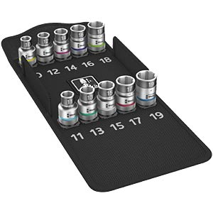"Zyklop socket set with 1/2"" drive WERA 05004203001"