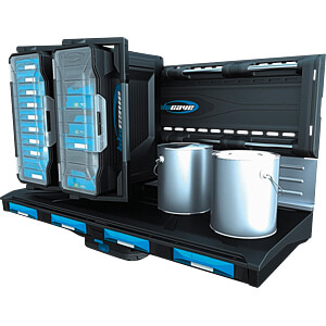 Aufbewahrungssystem Regal mit 4 Schubladen BATAVIA 7060527