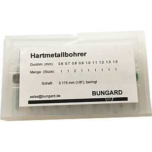 10-teiliges Hartmetallbohrer-Set BUNGARD 81002