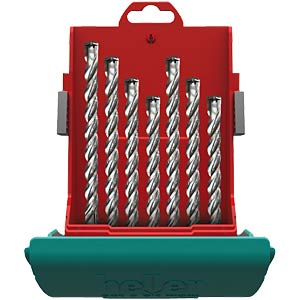 Trijet SDS-plus hammer drill bit set, seven-piece HELLER 26813 4