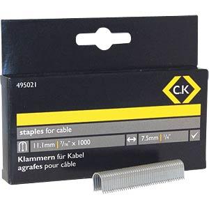 Staples 7.5 x 10mm, half-round, 1000 pieces C.K 495021