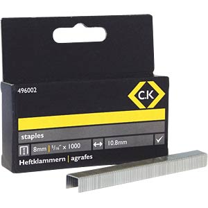 Staples 10.5 x 8 mm, 1000 pieces C.K 496002