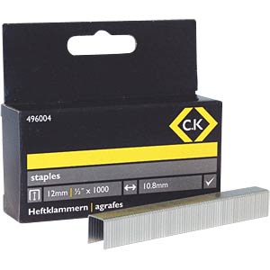 Staples 10.5 x 12 mm, 1000 pieces C.K 496004