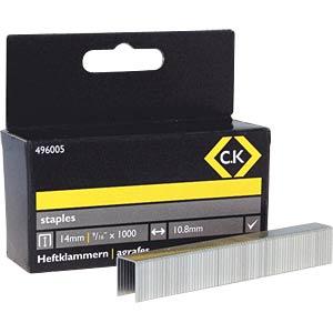 Heftklammern 10,5 x 14 mm, 1000 Stck. C.K 496005
