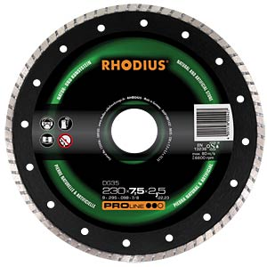 Diamond cutting disc, 125 mm RHODIUS 302239