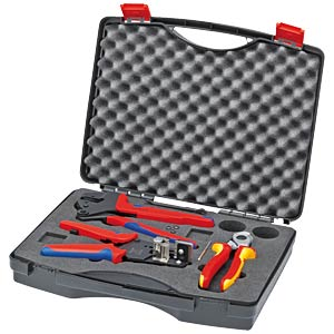 Tool case photovoltaics, crimping dies    not stocked KNIPEX 97 91 01