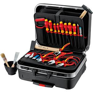 KN 00 21 06 HL S: Werkzeugsatz, Werkzeugkoffer, Elektro, 24-teilig bei reichelt elektronik