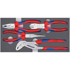 Werkzeugsatz, Zangen, Basic, Chrom, 4-teilig KNIPEX 00 20 01 V17