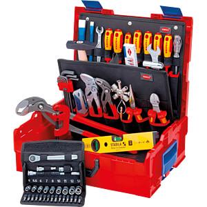 KN 00 21 19 LB S: Werkzeugsatz, Werkzeugbox, L-BOXX, Sanitär, 52-teilig bei reichelt elektronik