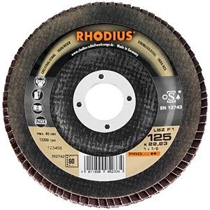 Lamellar flap grinding disc, Ø 115 mm, 40 grain RHODIUS 202647