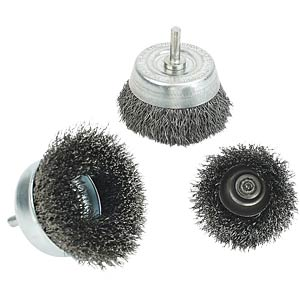 Steel wire brushes — cup brushes, 50 mm, fine BRÜDER MANNESMANN 438-F-50