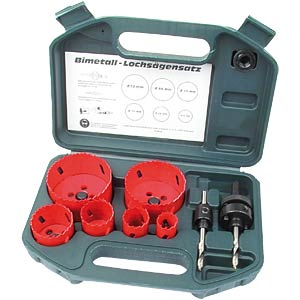 Hole saw set, 8-piece BRÜDER MANNESMANN 44100