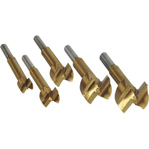 Forstner drill bit set, 5 pieces, titanium-coated BRÜDER MANNESMANN 54005