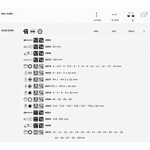 "Steckschlüsselsatz, Multi, 1/2"" + 1/4"", 61 -teilig MATADOR 4118 9230"