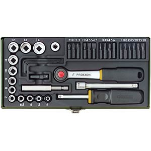 Screwdriver kit with magnetic holder, 39 pieces. PROXXON 23070
