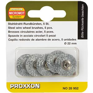 Steel brushes, wheel shape, 5 pieces PROXXON 28952