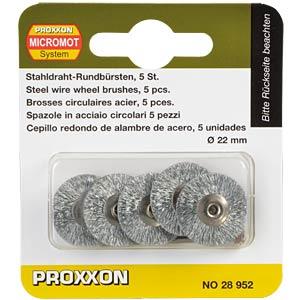 Stahlbürsten, radform, 5 Stück PROXXON 28952