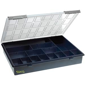 Assortment box, W/D/H 340 x 265 x 57 mm, 15 compartments RAACO 136174