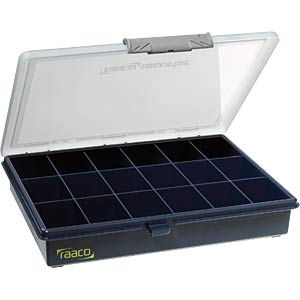 Assortment box, W/D/H 240 x 195 x 42 mm, 18 compartments RAACO 136167