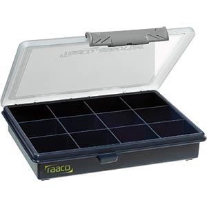 Assortment box, W/D/H 175 x 145 x 32 mm, 12 compartments RAACO 136143
