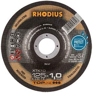 Extradünne Trennscheibe 125 x 1,0 x 22,23 RHODIUS 206167