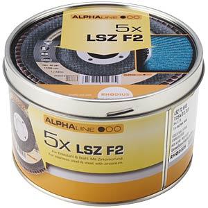 Lamellenschleifscheibensatz, Edelstahl, 125 mm, 5-teilig RHODIUS 208534