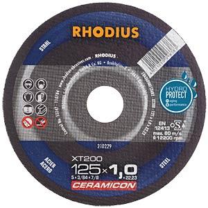 Trennscheibe, Stahl, 125 mm, 1 mm, XT200, 22,23 mm RHODIUS 210229