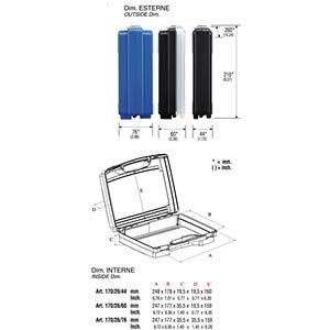 Koffer, Polypropylen, 260x44x210 mm RND LAB RND 550-00080