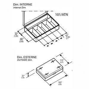 Sortimentskasten, 550-00099, 165 x 31 x 112 mm, 6 Fächer RND LAB RND 550-00099