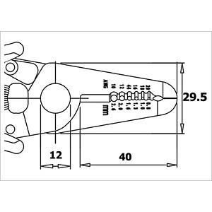 Abisolierwerkzeug, 165 mm, Ø 2,6 mm RND LAB RND 550-00036