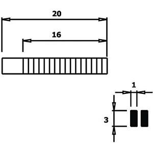 Flachzange, gezahnte Greifflächen, 140 mm RND LAB RND 550-00039