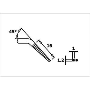 ESD Greifzange, spitz, rund, 145 mm, gewinkelt RND LAB RND 550-00044