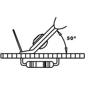 Seitenschneider, 50° gebogen, 131 mm RND LAB RND 550-00047