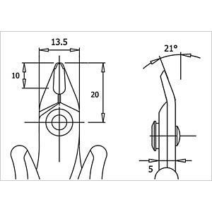 ESD Seitenschneider, spitz, 138 mm, ohne Facette RND LAB RND 550-00050