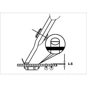 ESD Seitenschneider, spitz, 144 mm, ohne Facette RND LAB RND 550-00055