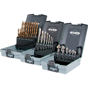 Stahlbohrersatz, gemischt, Profi-Box, 3-teilig RUKO 131003