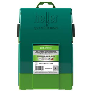 Concrete drill bit set Power3000, seven-piece, 4 - 12 mm HELLER 16884