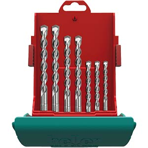 Hammer drill bit set, SDS-Plus, seven-piece HELLER 16315