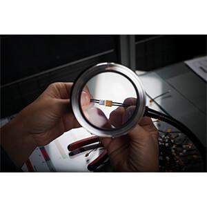 Leselupe smolia TZC, LED, Ø 69 mm, 3-fach, grau 3R SYSTEMS 3R-STZC-GR
