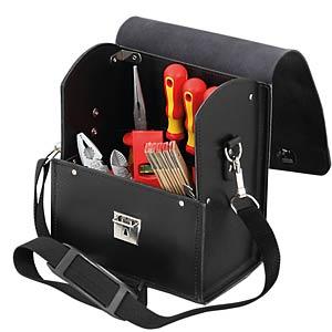 Werkzeugtasche, Favorit, Leder, schwarz, 210x140x280 mm HEPCO+BECKER 50 7118 8019
